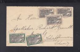 Lettre Togo 1927 Pour La Suisse - Cartas