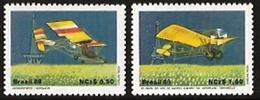 BRAZIL #2173-74   AIRCRAFT  - ULTRA LIGHT  -  DEMOISELLE   2 V   1989 - Brazil
