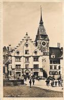 ZUG → Stadtkanzlei Mit Zytturm & Restaurant Aklin, Fotokarte Ca.1930 - ZG Zoug