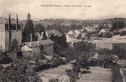 S2493 Cpa 23 Auzances - Avenue De La Gare - Paysage - Auzances