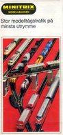 Catalogue MINITRIX Modellbahnen 1968 Folder Schwedische Ausgabe - En Suédois - Livres Et Magazines