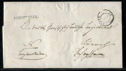 """Baden / 1847 / Vorphila-Brief L1-Stempel SCHOPHEIM U. K2-Stempel BADEN, Innen """"Bezirksamtmann In Baden"""" (23105) - [1] ...-1849 Precursores"""