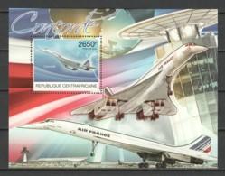 Central African Republic 2012 Mi Block 976 MNH CONCORDE - Concorde
