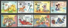 Redonda (Antigua & Barbuda) 1986 Mi 215-218 + 220-223 MNH DISNEY X-MAS - Disney