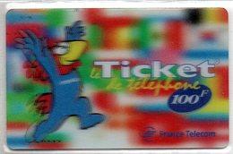 Ticket FT Footix 100F - Neuve Non Grattée - Frankrijk