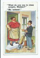 Illustrator Postcard Donald Mc Gill Inter Art Co. Posted 1936 What Do You Use To Clean Carpets - Mc Gill, Donald