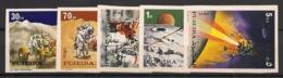 Fujeira - 1972 - N°Mi. 833B à 837B - Apollo 15 - Non Dentelé / Imperf. - Neuf Luxe ** / MNH / Postfrisch - Espacio