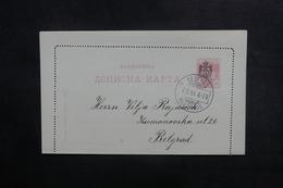 SERBIE - Entier Postal Surchargé De Belgrade Pour Belgrade En 1904 - L 38329 - Serbie