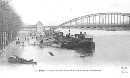 INONDATIONS  - LE PONT D'AUSTERLITZ      Bb1027 - Paris Flood, 1910