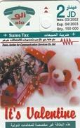 JORDAN - Happy Valentine, Tirage 150000, 03/02, Sample No Chip And No CN - Jordanie