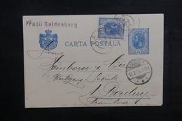 ROUMANIE - Entier Postal + Complément De Iaşi Pour La France En 1895 - L 38342 - Entiers Postaux