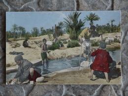 GAFSA LAVEURS A LA SOURCE PRES DE L OUED BAIECH - Tunisie