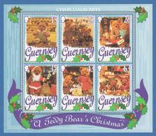 GUERNSEY/GUERNESEY 1997 CHRISTMAS TEDDY BEARS S.G. MS 753. M.S. U.M.  N.S.C. - Guernesey