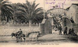 83 TAMARIS SUR MER LA SEYNE PRES TOULON BALAGUIER ENTREE DU RESTAURANT DU PERE LOUIS ANIMEE CLICHE UNIQUE - La Seyne-sur-Mer