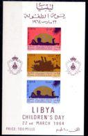 22.3.1964; Königreich Libyen, Tag Des Kindes, Block Nr. 5, Postfrisch, Los 51585 - Libyen