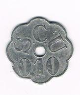 // OUDE  JETON  BRUGGE S.C.U  0.10 S.V.E  0.10 CENTIMES - Monétaires / De Nécessité