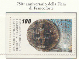 PIA - GERMANIA : 1990 : 750° Anniversario Della Fiera Di Francoforte - (Yv 1284) - Nuovi