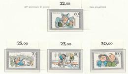 """PIA  -  GERMANIA  -  1990  : 125° Anniversario Dei Personaggi Dei Fumetti """"Max E Moritz""""  -  (Yv  1287-90) - Fumetti"""