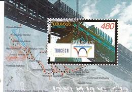Armenia  2003 Mi 484 Block17 S/S 10th Anniversary Of TRACECA Programme Great Silk Road, Map MNH ** - Treinen