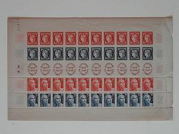 TIMBRE DE FRANCE N° 833A NEUF ** En FEUILLE COMPLETE / BANDE CENTENAIRE DU TIMBRE POSTE 1849 1949 (EN L'ÉTAT) - Full Sheets
