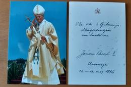 Photography Pope John Paul Visit Slovenia 1996 80x115mm - Photographie