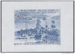 "Polynésie Bloc YT 11 BF "" Italia'85 "" 1985 Neuf** - Blocchi & Foglietti"
