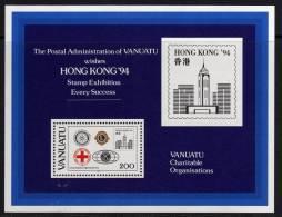 """VANUATU  B.F. N° 22 XX  """"Hong-Kong 94"""", Exposition Philatélique Internationale,  Le Bloc Sans Charnière TB - Vanuatu (1980-...)"""