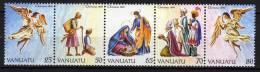 VANUATU N° 851 / 55 XX    Noël La Série Des 5 Valeurs Se Tenant, Sans Charnière TB - Vanuatu (1980-...)