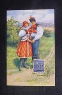 TCHÉCOSLOVAQUIE - Oblitération Temporaire En 1936 Sur Carte Postale Costume Régional - L 38355 - Czechoslovakia