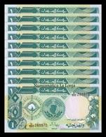 Sudan Lot Bundle 10  Banknotes 1 Pound 1987  Pick 39 SC UNC - Sudan