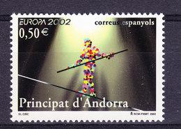 Europa Cept 2002 Andorra Sp. 1v  ** Mnh (44106) GALAXY PRICE - Europa-CEPT