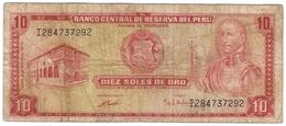 Peru 10 Soles De Oro 1972 P-100c /011B/ - Peru