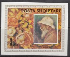 1991 Albania Albanie Art Paintings Renoir Souvenir Sheet  MNH - Albanië