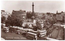 TRAFALGAR SQUARE-LONDON-NON  VIAGGIATA  -REAL PHOTO - Trafalgar Square
