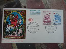 Tours Saint Martin Croix Rouge Fdc Enveloppe 1 Er Jour - 1960-1969