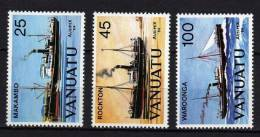 """VANUATU N° 699/701 XX  """"Ausipex 84"""" Exposition Philatélique Internationale De Melbourne Les 3 Vals. Sans Charnière TB - Vanuatu (1980-...)"""