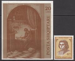 1992 Albania Albanie Frang Bardhi Literature Complete Set Of 1 + Souvenir Sheet MNH - Albanië