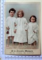 CHROMO GRAND FORMAT....A LA GRANDE MAISON /NANTES ...3 ENFANTS EN CHEMISE DE NUIT.. - Chromos