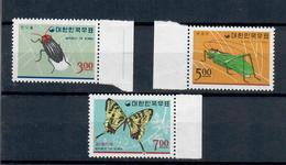 COREA DEL SUD 1966 - FAUNA  INSETTI E FARFALLE - SERIE  COMPLETA - MNH** - Corea Del Sud