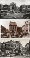 PICCADILLY CIRCUS-LONDON-3 POST CARD- VIAGGIATA-1953  -REAL PHOTO - Piccadilly Circus