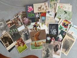 Déstockage - Lot De 150 Cartes Fantaisie - Femmes, Fleurs, Animaux, Illustratiopns... - Cartes Postales