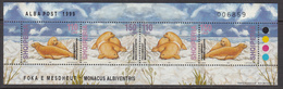 1999 Albania Albanie Seals Mammals  Miniature Sheet Of 4 MNH - Albanie