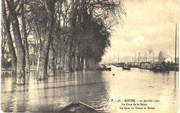 CARTE Postale Ancienne  De ROUEN - Crue De La Seine 1910 - Rouen