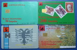 Albania Lot Of 4 Chip Phone Cards. Operator Albtelecom - Albanië