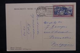 VATICAN - Affranchissement Plaisant Sur Carte Postale En 1948 Pour Bruxelles - L 38375 - Vatican