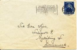 Belgium Cover Sent To Denmark Bruxelles 10-10-1947 Single Franked - Belgium