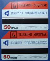 Albania Lot Of 2 Magnetic Phone Cards. Operator Albtelecom. - Albania