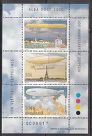 2000 Albania Albanie Zeppelin  Miniature Sheet Of 3 MNH - Albanien