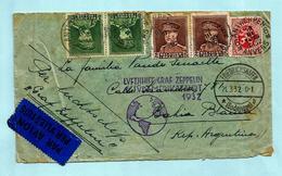 N°321(2)+323(2)+282 Op Omslag PAR AVION - LUFTSHIFF GRAF ZEPPELIN SUDAMERIKAFAHRT 1932, Afst. ANTWERPEN 19/03/1932 ... - 1931-1934 Kepi