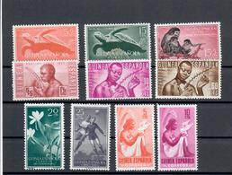 GUINEA SPAGNOLA  1953/56 - 10 VALORI DEL PERIODO - MH * - Guinea Equatoriale